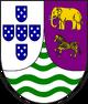 Escudo de Armas de Angola en color rosado