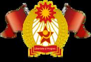 Escudo de la Union Socialista del Carpatos (green screen 2)