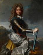 Portrait of Philippe d'Orléans, Duke of Orléans in armour by Jean-Baptiste Santerre