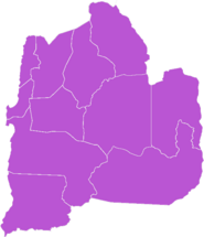 Mapa de la Región de Antofagasta