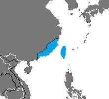 Location of Taiwan