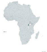 RUANDA MAPA 1993 LGMS