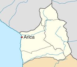 Localización de Arica