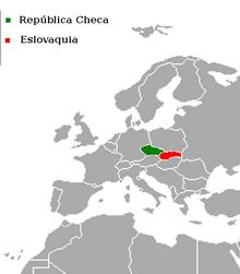 Localización de Eslovaquia