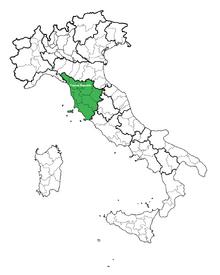 Location of Tuscan Republic