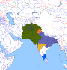 Location of Mughal Empire