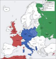 Second world war europe 1939 map de