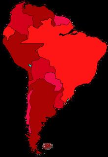 Localización de Sudamérica