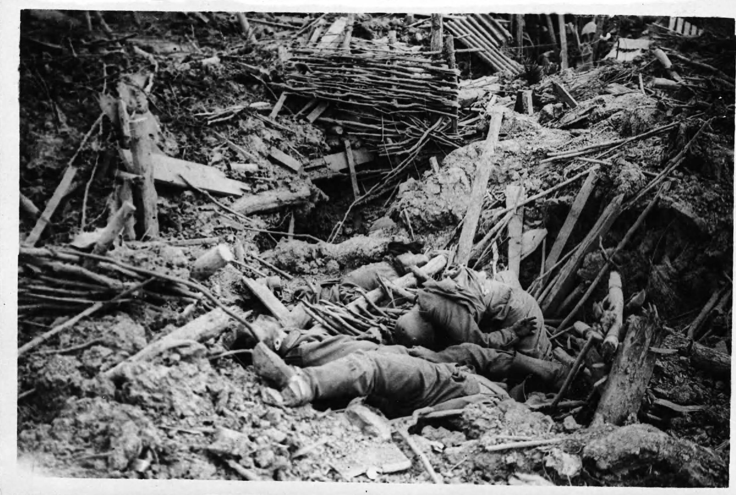 Battle of Messines - destroyed German trench.jpg
