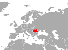 Localización de Rumania
