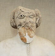 Bust of the standing caliph statue