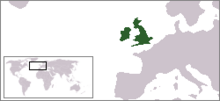Location of Commonwealth of England