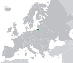 Ubicación de Prusia en Europa