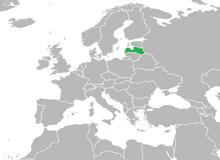 Localización de Letonia