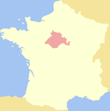Location of Orléans