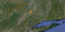 Location of Poughkeepsie