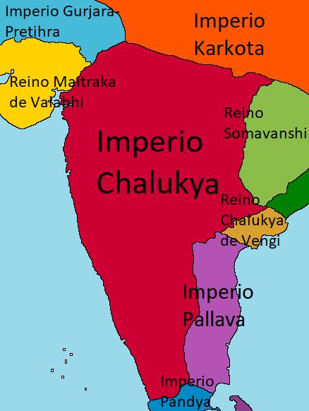 Imperio Chalukya (Derrota en Poitiers)