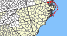 Location of Outer Banks