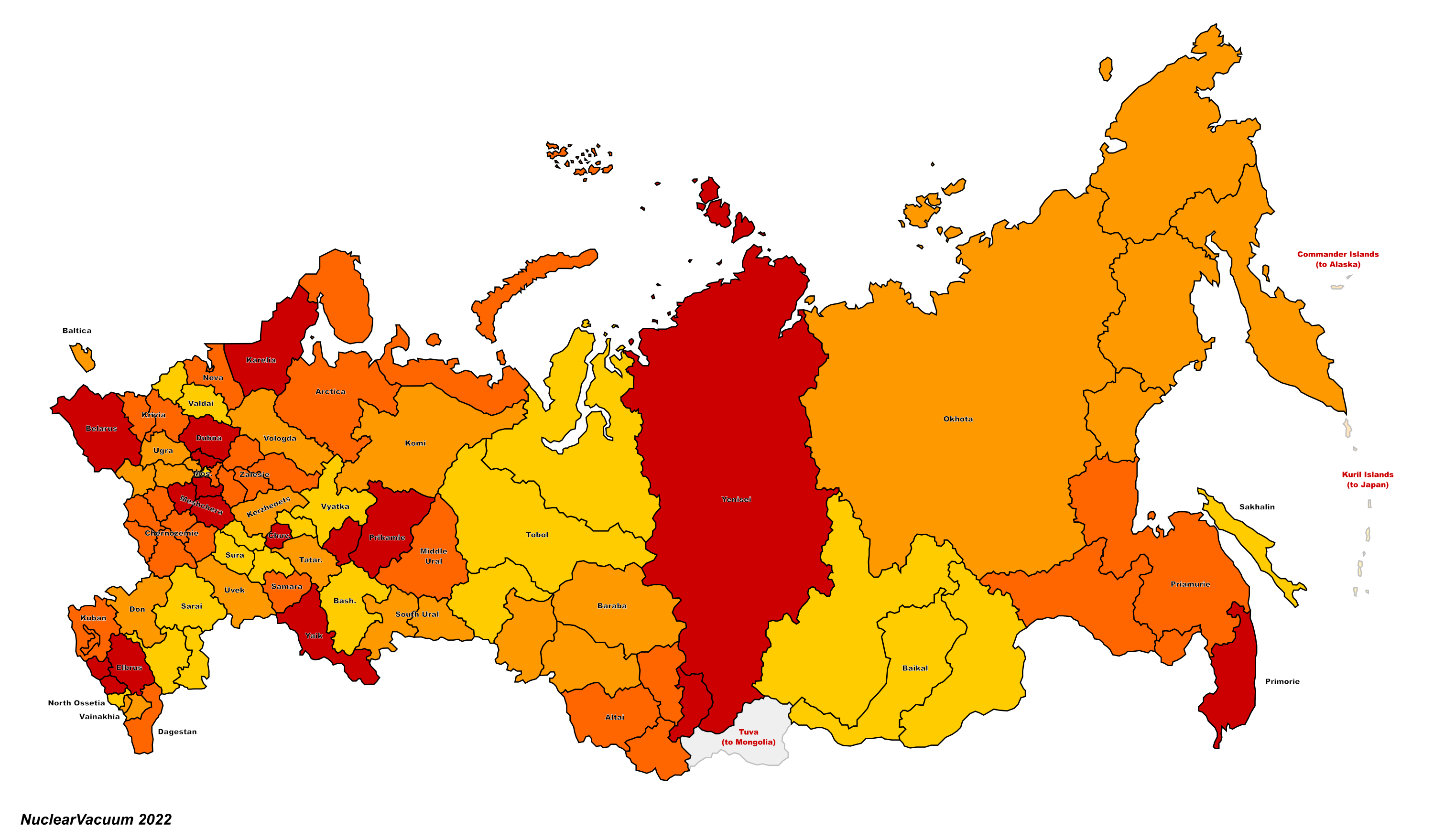Republics of Russia (Russian America)