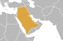 Location of Confederation of Arab States