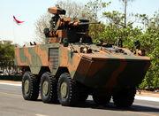 VBTP-MR Guarani is a 6x6 armored personnel carrier by Fiat's IVECO Brazilian Army URUTU-3 UT-30BR turret REMAX – (Reparo de Metralhadora automatizada Brazilian remote weapon system CTEx (2).jpg