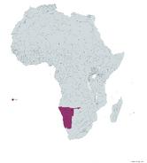 NAMIBIA MAPA 1993 LGMS