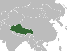 Location of Tibet