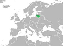 Localización de Lituania