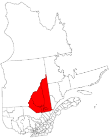 Location of Saguenay