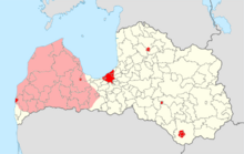 Location of Courland