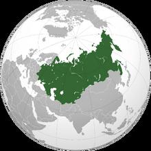 Localización de la URSS