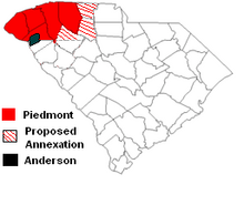 Location of Piedmont