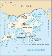 Map of Hong Kong Special Autonomous Region