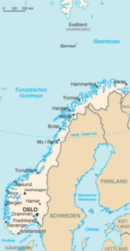 Karte Norwegen