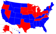 Map of Governors 1979