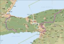 "Location of Niagara Falls/""The Falls"""