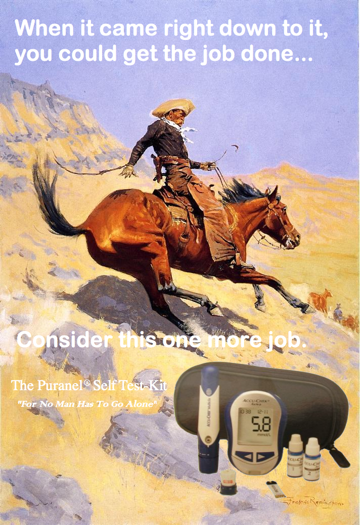 Old Cowboy Diabetes Test Kit Advestiment 1974 (America Type Beta).png