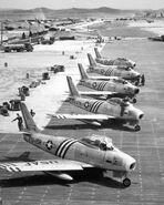 F-86As 4FIW Suwon Jun1951