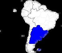 Localización de los Estados Unidos del Río de la Plata