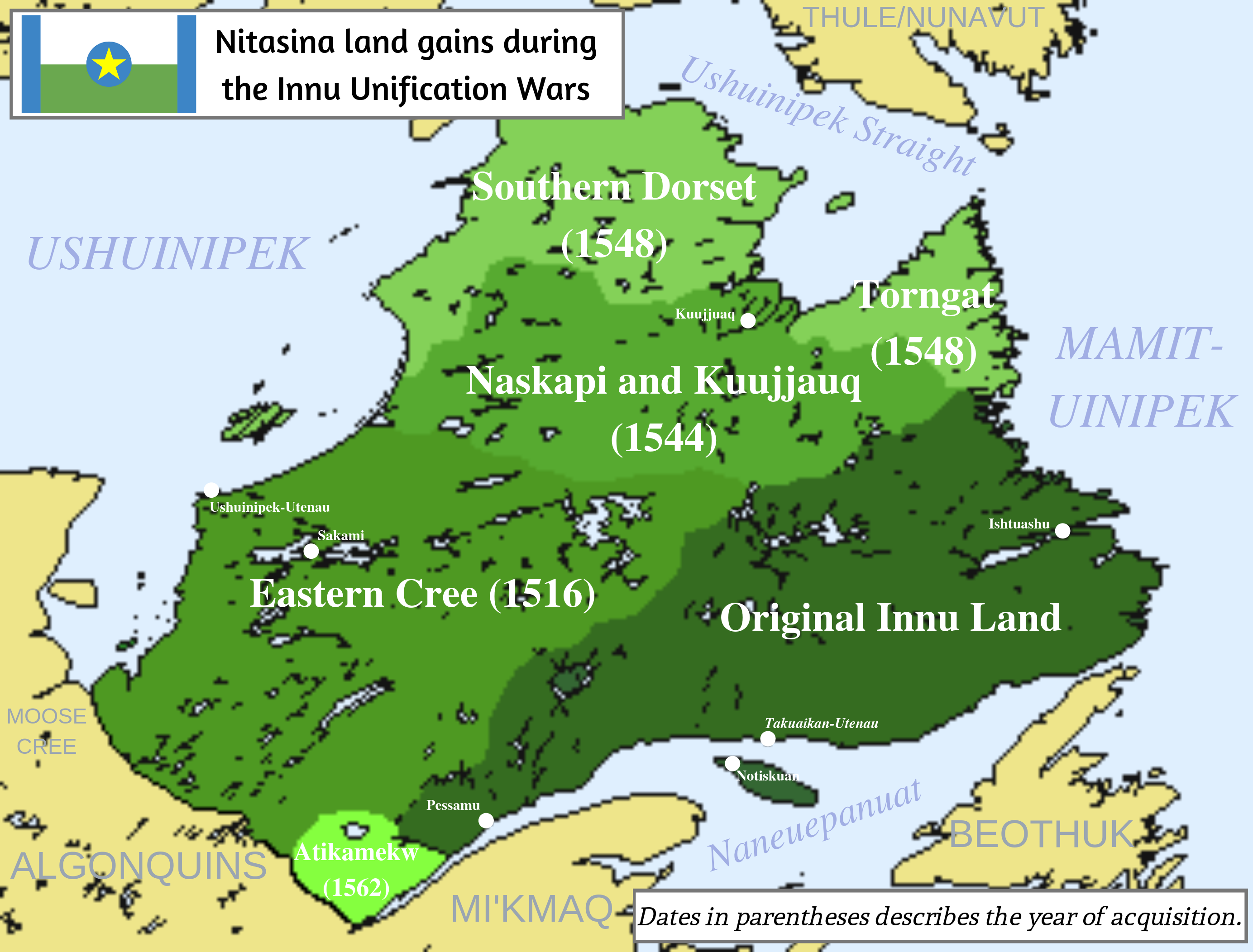 Innu Unification Wars (Mundus Novus Map Game)
