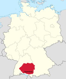 Location of Swabia-Württemberg