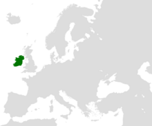 Location of Ireland