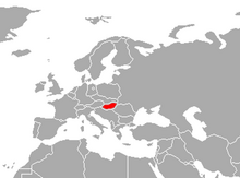 Localización de Hungría