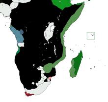 Location of Swahili