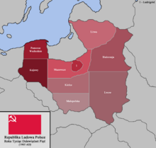 Location of People's Republic of Poland