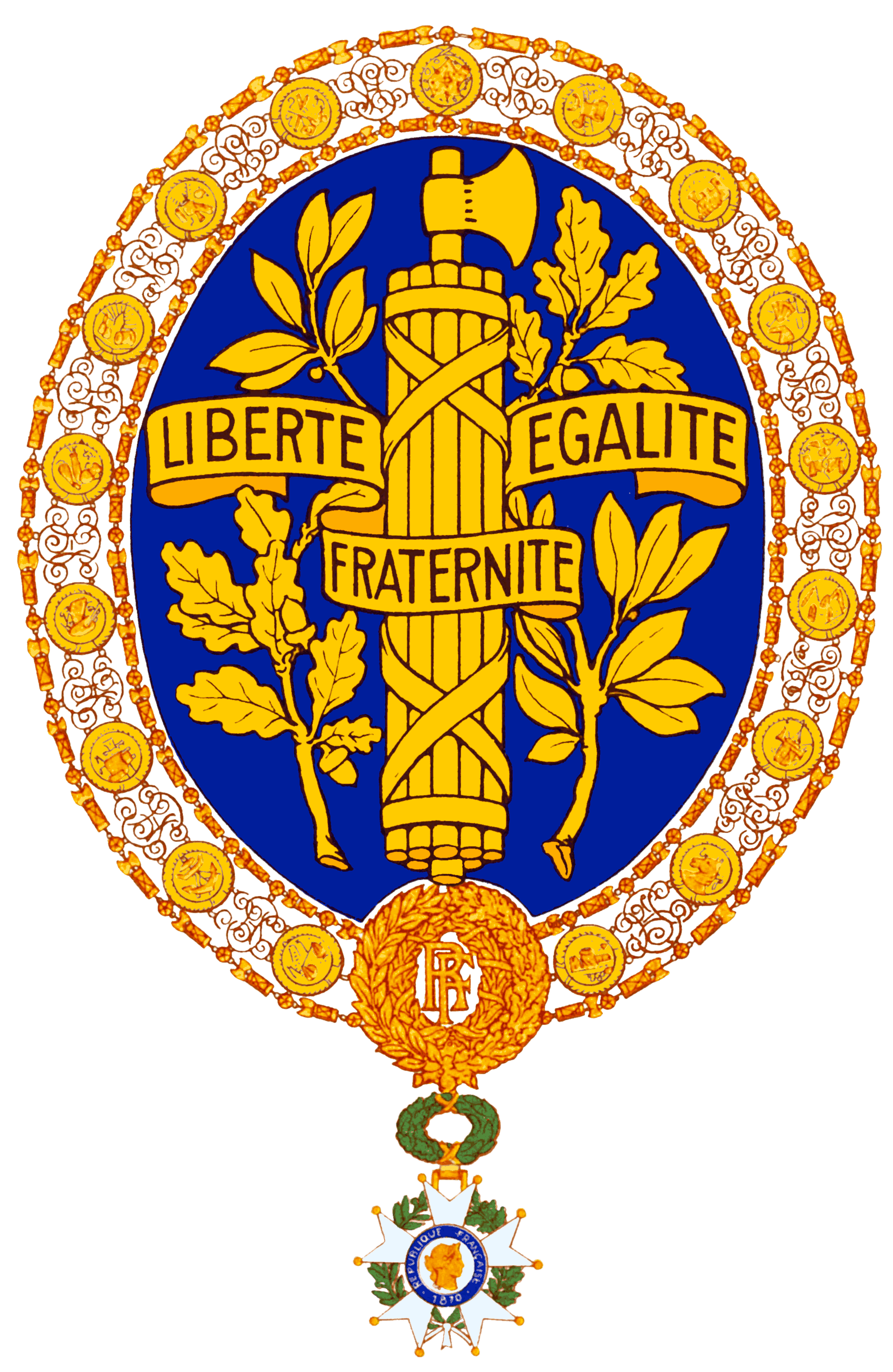 Coat of arms of France (UN variant).png