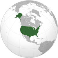 Localización de los Estados Unidos