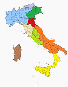 Location of People's Republic of the Romagna