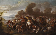 Francesco Simonini Schlachtenszene aus den Türkenkriegen 2