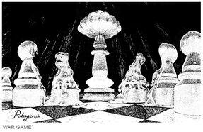 Polyp cartoon Nuclear War Game